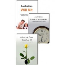 Advance Care Directive, Power of Attorney Kit & Australian Will Kit for one person