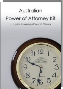 The Australian Power of Attorney Kit - 1 person pack