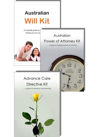 Australian Will Kit Power of Attorney kit and Advance Care Directive kit image only