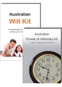 The Australian Will Kit & The Australian Power of Attorney Kit cover image only